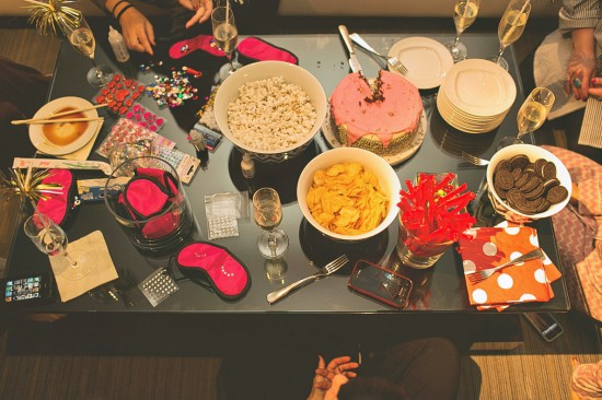No Sleepover Would Be Complete Without The Plethora Of Junk Food And Beverages In This Case Quintessential Popcorn Candy Is Abundant Chic Bowls