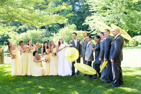 yellow parasols