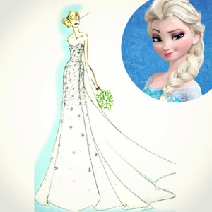 Frozen wedding gown