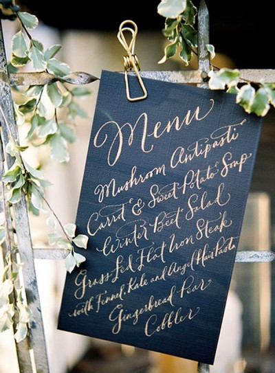 planning your wedding menu