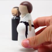 a bride with a bump