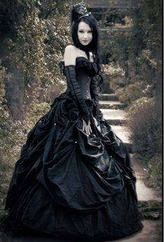 Cheap black gothic wedding dresses
