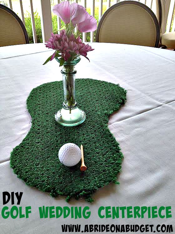 Golf Wedding Centerpiece