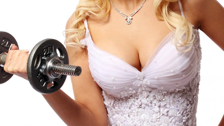 Weight lifting Bride