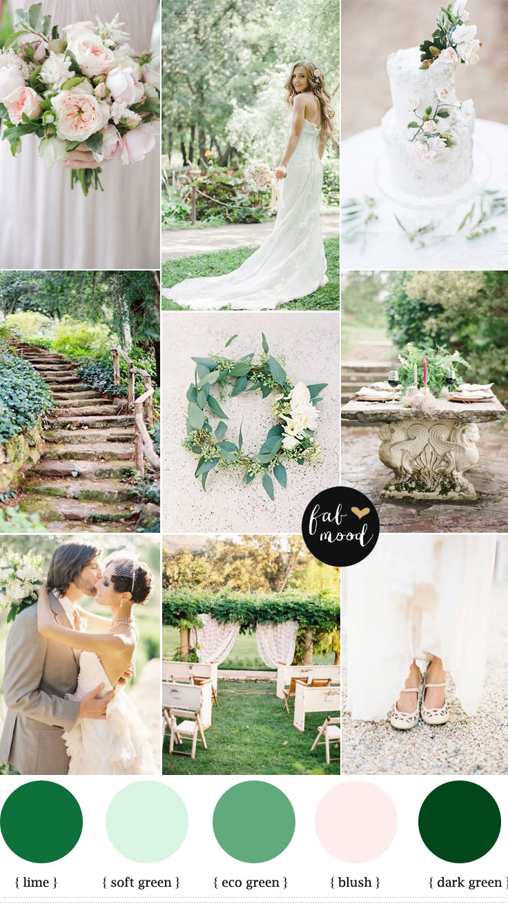 Dark Green Wedding Color Schemes