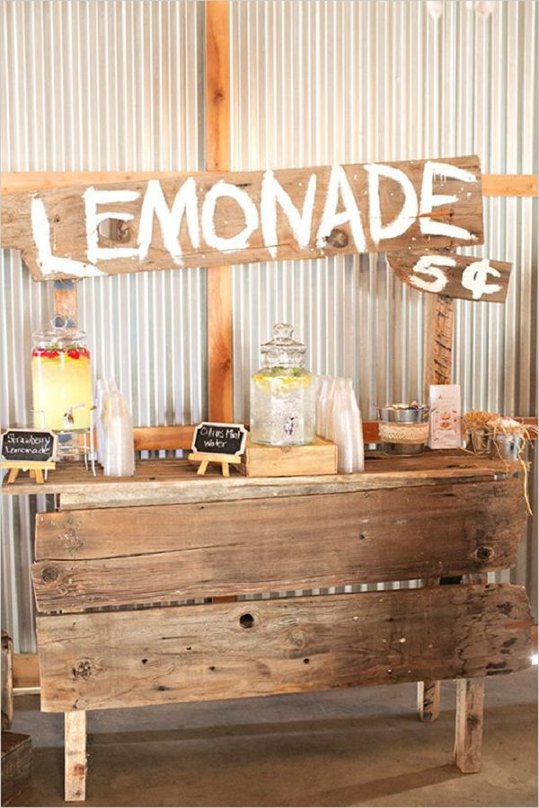 Wedding trends archives chicago wedding blog for Rustic lemonade stand