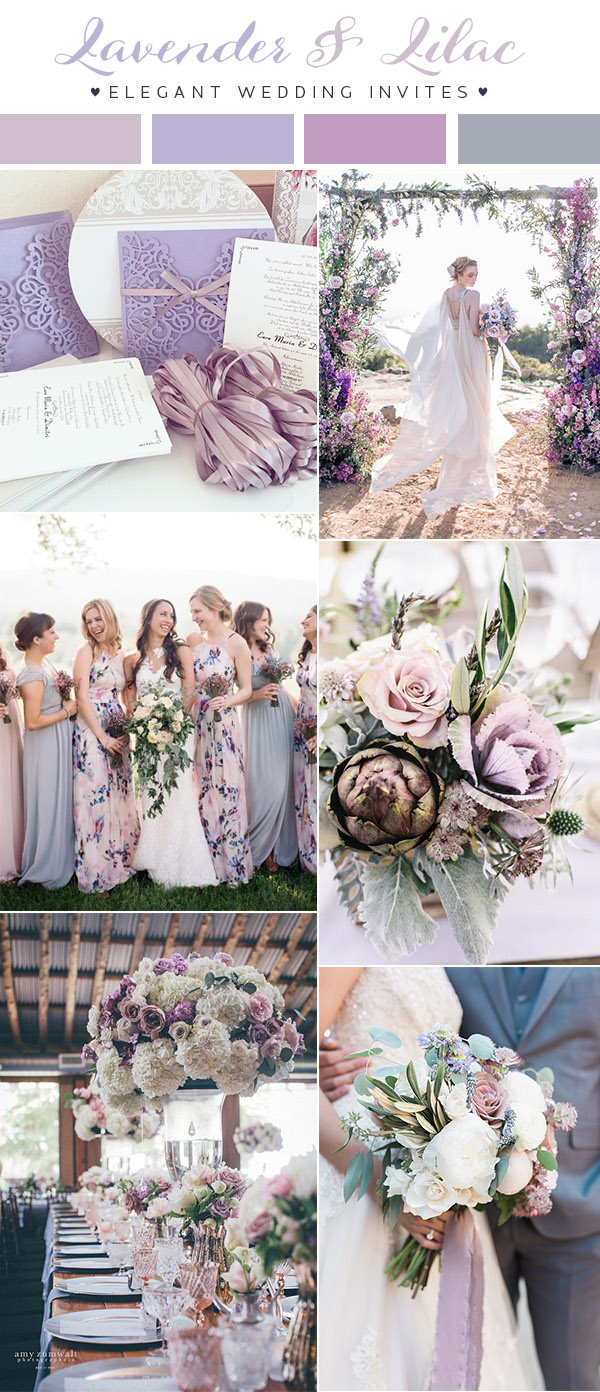 2018 wedding theme colors chicago wedding blog lavender and lilac theme junglespirit Gallery
