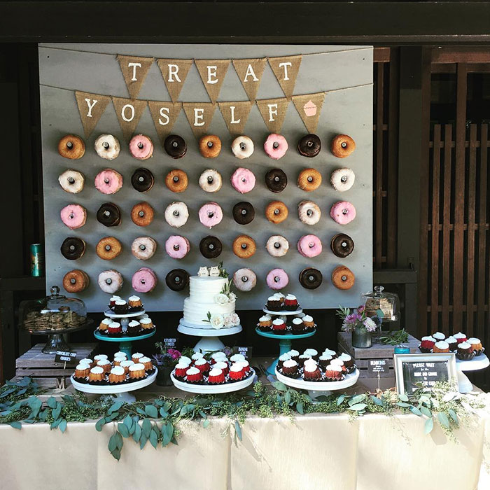 Unique desserts chicago wedding blog donut wall junglespirit Gallery