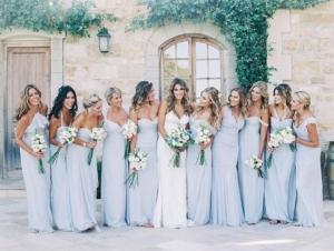 Blue Spring Bridesmaids