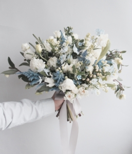 Blue Gray Wedding Flowers