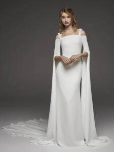 Wedding Dress With Cascading Cape