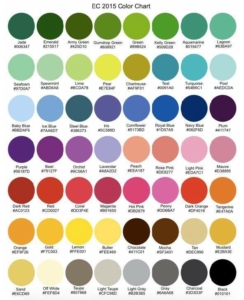 Color Chart, Color Options