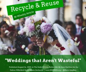 Recycled Wedding Decor