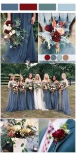Burgundy and Blue Wedding