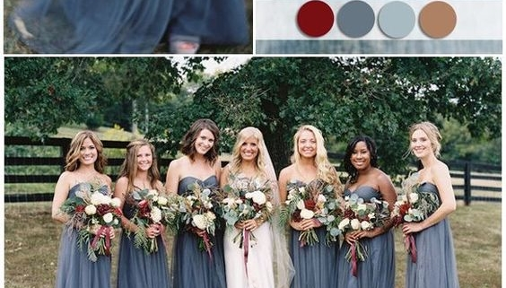 Burgundy and Blue Wedding