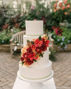 Garfield Park Neighborhood Wedding Bakery Fall Foliage Wedding Theme