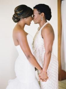 Sleek Bridal updo