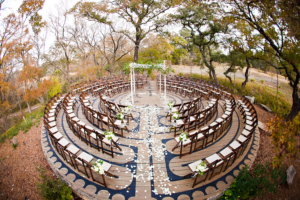 Circle Wedding Ceremony Seating