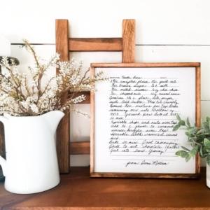 Gift Idea, Handwritten Note