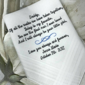 Father Of The Bride Handkerchief Gift